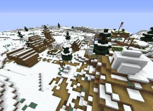 Three Villages Near Winter Biome Seed 1.14.4