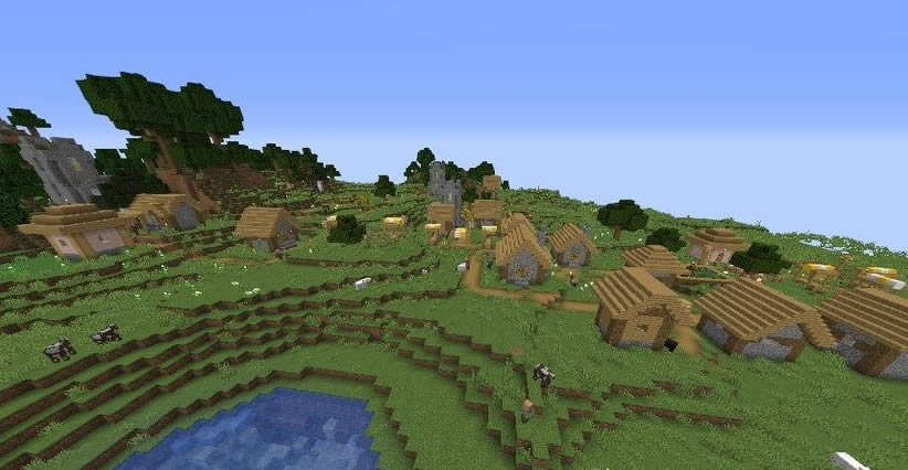 Three Villages Near Winter Biome Seed Screenshot 2