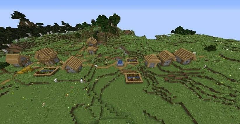 Three Villages Near Winter Biome Seed Screenshot