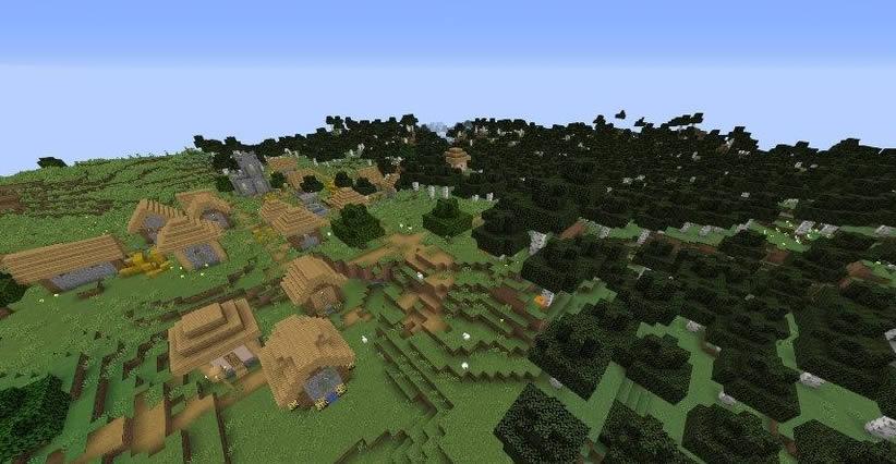 Village in Birch Forest Seed Screenshot 2