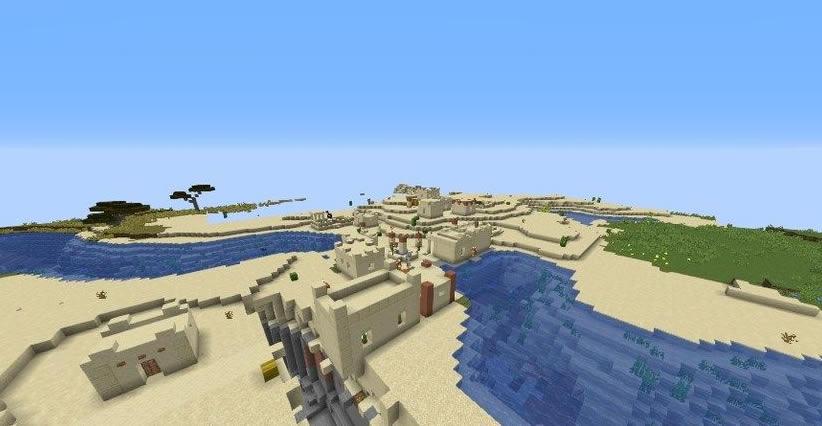 Village in Birch Forest Seed Screenshot