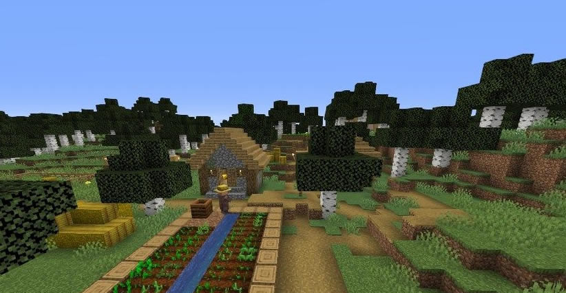 Village in Birch Forest Seed