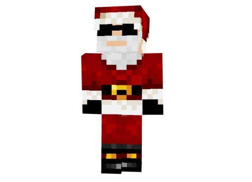 brickcar (Santa Claus in Glasses) - Minecraft Christmas Skin