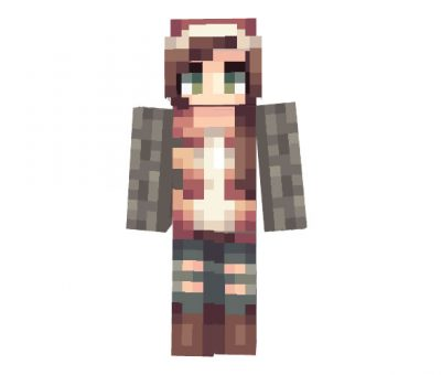 wqgenclik26 - Minecraft Christmas Skin for Girls