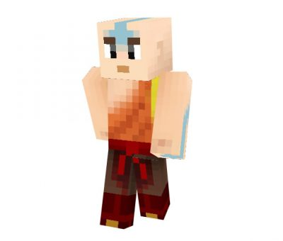 Avatar Aang Skin for Minecraft