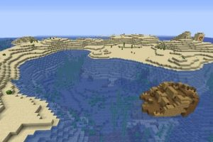 Deserted Island With A Ship And Temples Seed