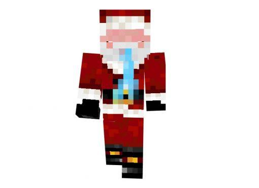 Electroboy Minecraft Christmas Skin (Santa Claus)
