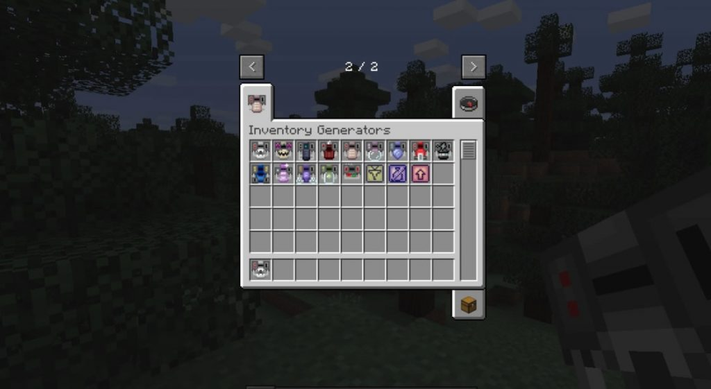 Inventory Generators Mod Screenshot