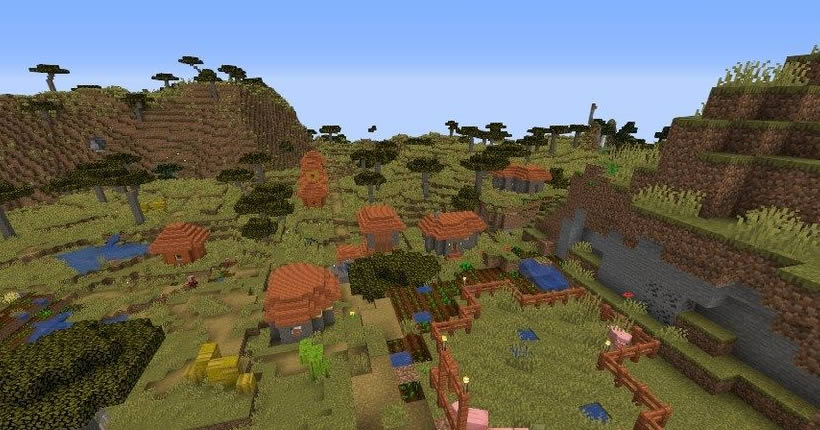 Mansion and Four Villages Seed Screenshot 2