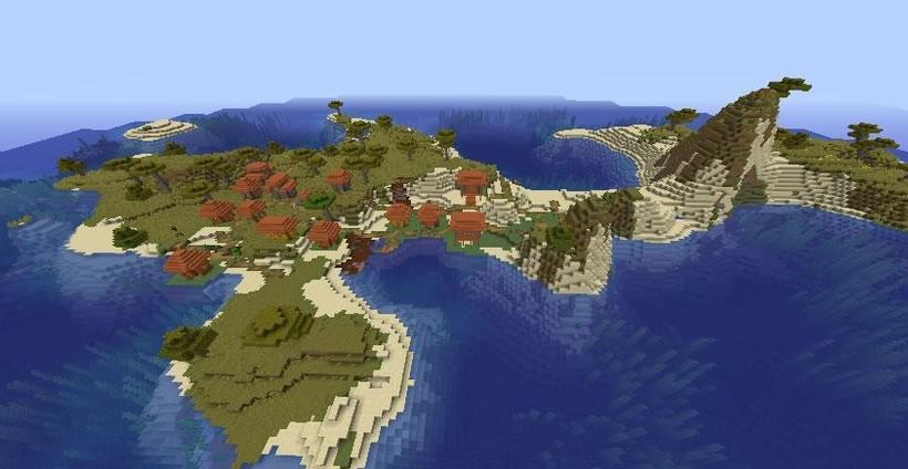 Mushroom Islands And Icepeaks Seed Screenshot 2