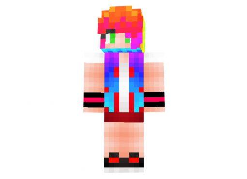 Ne0n_Girl Skin   Minecraft Skins Download