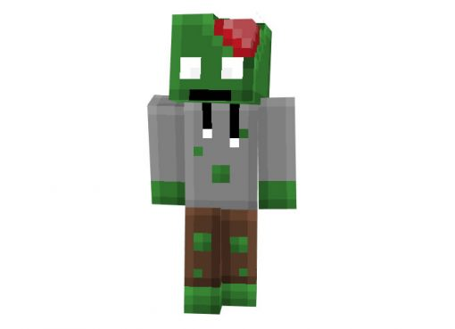 Pixeled Zombie   Minecraft Mob Skin