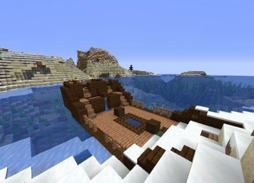 Ship in a Snowy Biome Seed