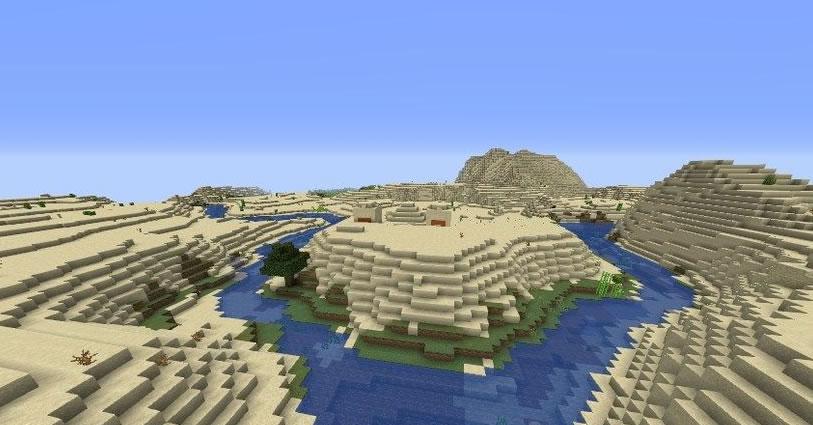Three Pyramids Seed for Minecraft