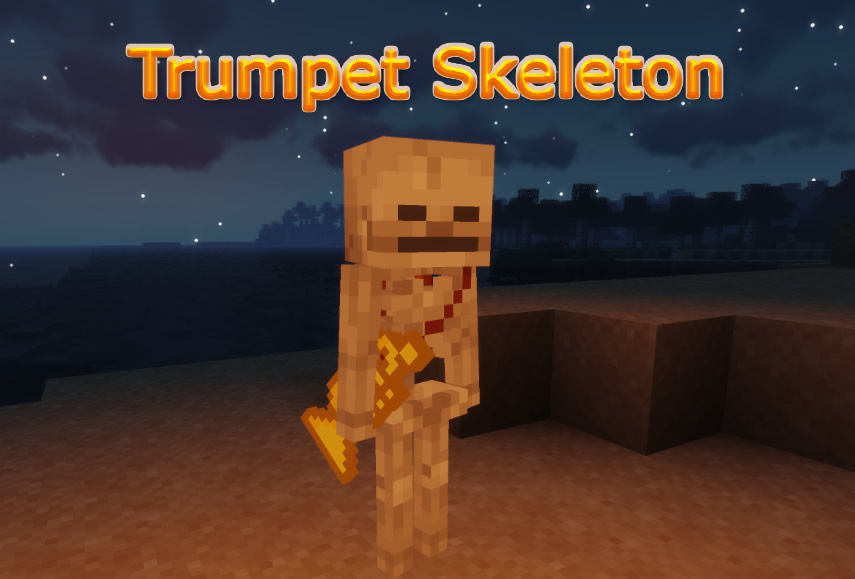 Trumpet Skeleton Mod for Minecraft