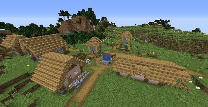 Village With A Huge Cave Seed Screenshot