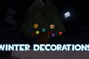 Winter Decorations Mod for Minecraft 1.14.4