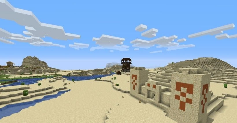 Blacksmith Village, Temple and Tower Seed Screenshot 2