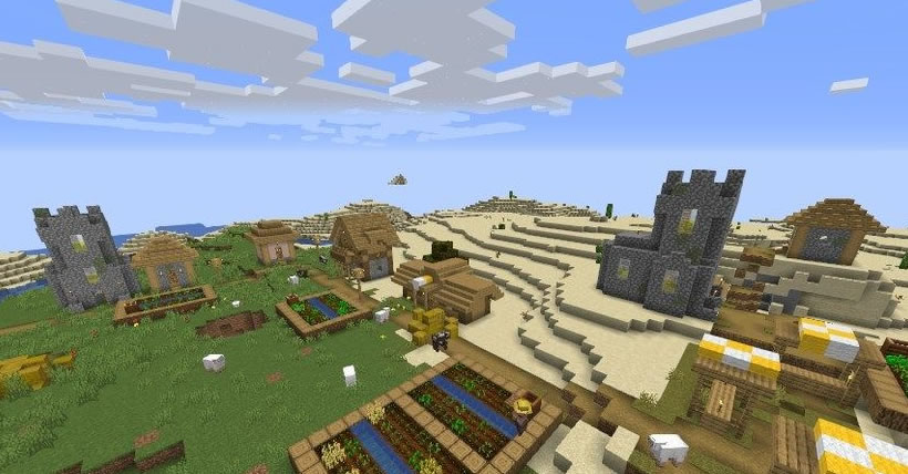 Blacksmith Village, Temple and Tower Seed Screenshot
