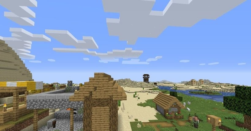 Blacksmith Village, Temple and Tower Seed 1.15.1/1.14.4