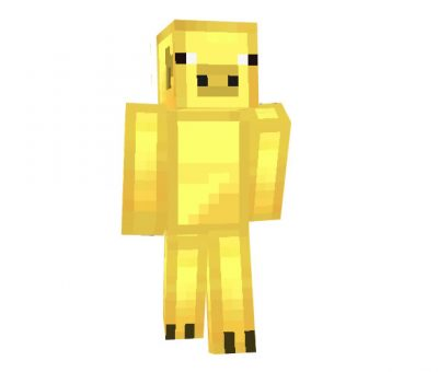 Gold Pig Skin | Minecraft Animal Skins Download
