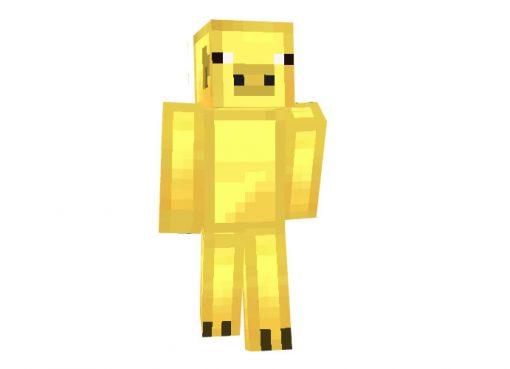 Gold Pig Skin | Minecraft Animal Skins Download