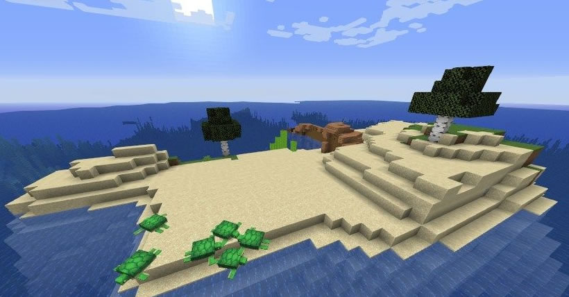 Island With A Ship And Monument Seed Screenshot