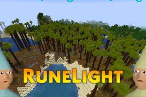 RuneLight Mod (New Dimension With Unique Biomes)