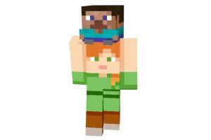 Steve on Alex Skin   Funny Minecraft Skins