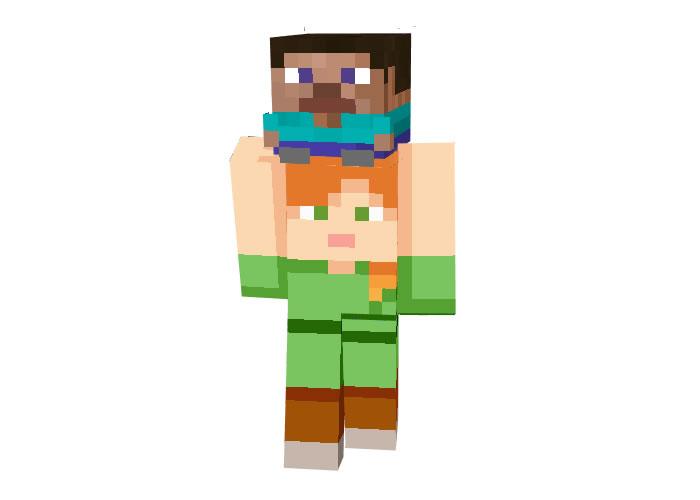 Steve on Alex Skin | Funny Minecraft Skins