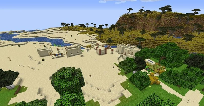 Two Desert Villages and Temple Seed Screenshot
