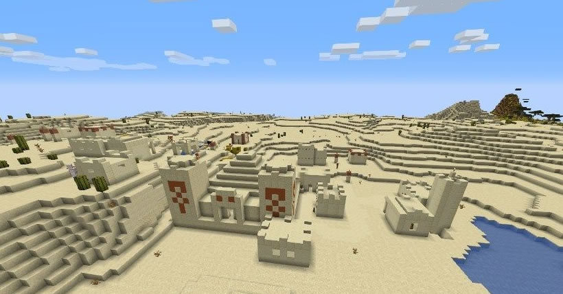 Two Desert Villages and Temple Seed 1.15.x/1.14.x
