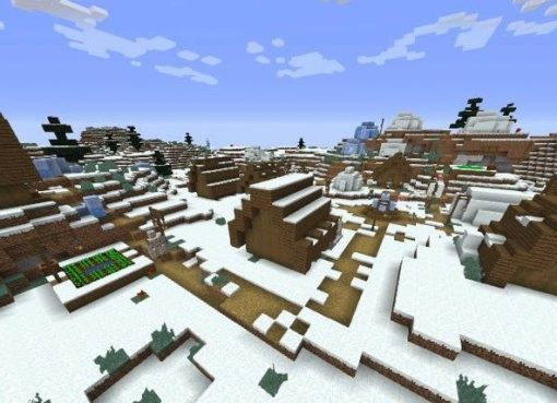 Two Winter Villages Seed for Minecraft 1.15.1/1.14.4