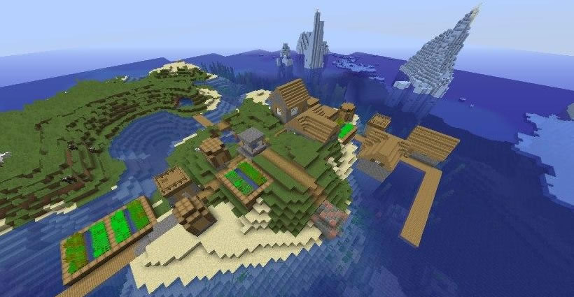 Village With Underwater Ruins Seed Screenshot 3