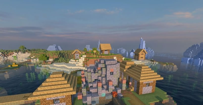 Village With Underwater Ruins Seed for Minecraft 1.15.1/1.14.4