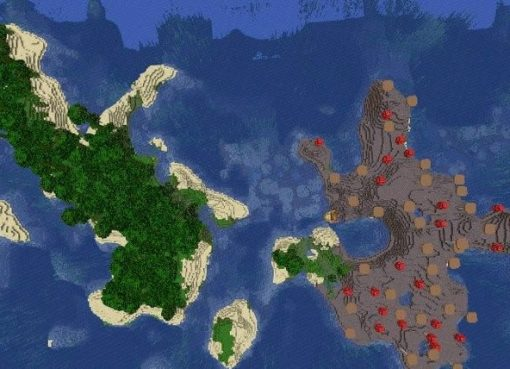 Jungle and Mushroom Islands Seed for Minecraft 1.15.2
