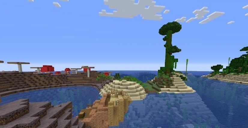 Jungle and Mushroom Islands Seed Screenshot 2