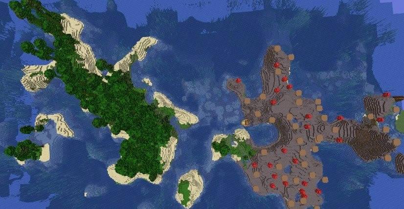 Jungle and Mushroom Islands Seed for Minecraft 1.15.2