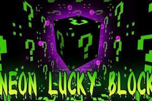 Lucky Block Dark Neon Mod for Minecraft