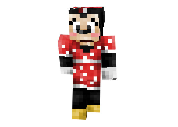 Minnie Mouse Skin for Minecraft