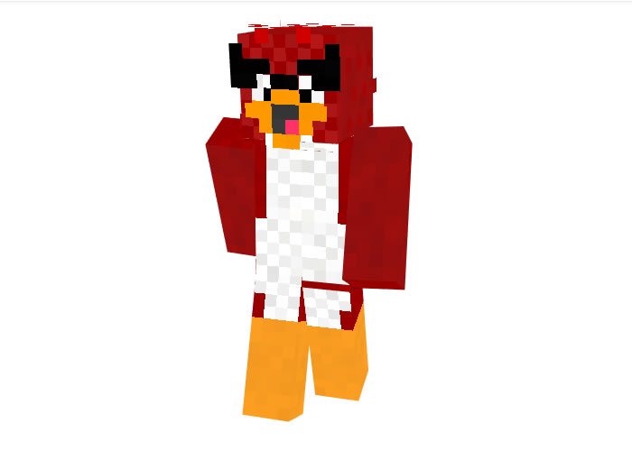 Red Angry Bird Skin for Minecraft