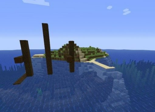 Small Island With A Ship and Treasures Seed