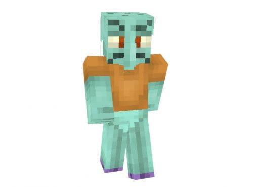 Squidward from SpongeBob SquarePants Skin for Minecraft