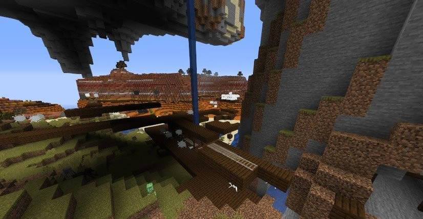 Village At The Exposed Mineshaft Seed Screenshot