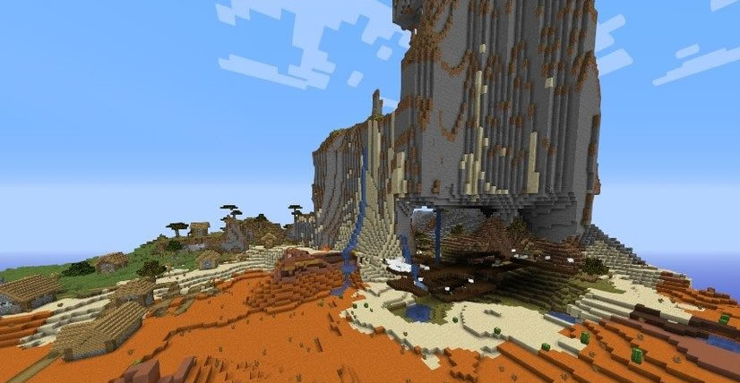 Village At The Exposed Mineshaft Seed for Minecraft