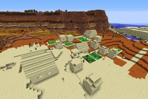 Village on the Border of Biomes Seed for Minecraft 1.12.2