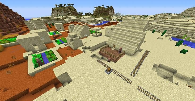 Village on the Border of Biomes Seed Screenshot 2