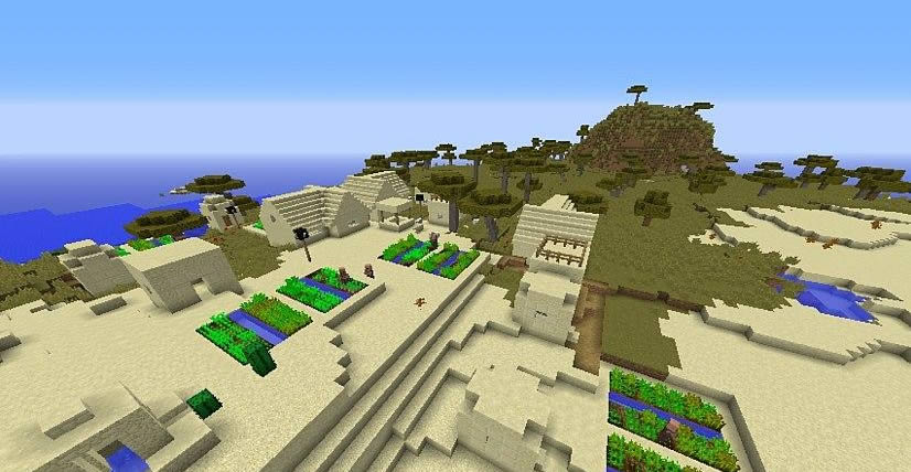 Village on the Border of Biomes Seed Screenshot