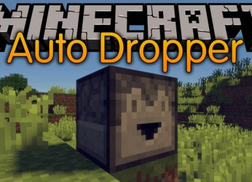 Auto Dropper Mod for Minecraft
