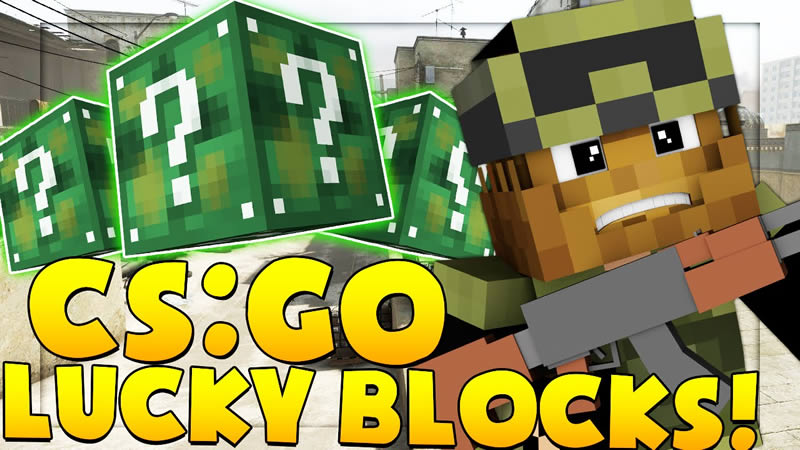 CS:GO Lucky Block Mod for Minecraft
